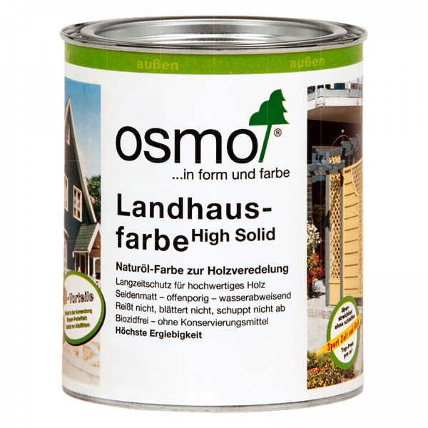 OSMO LANDHAUSFARBE HIGH SOLID - 2.5 LTR