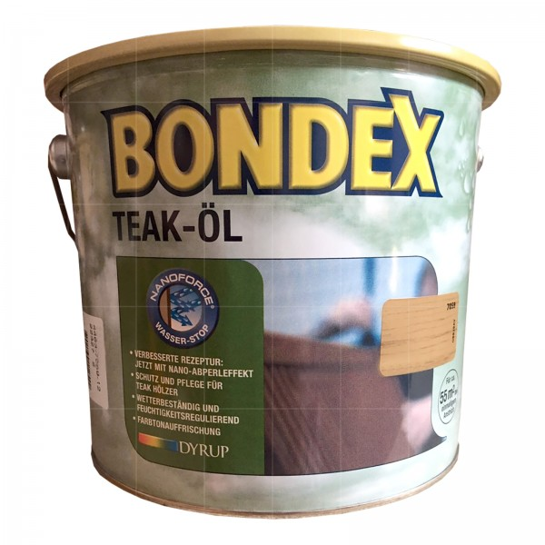 BONDEX TEAK-OEL - 2.5 LTR (FARBLOS)