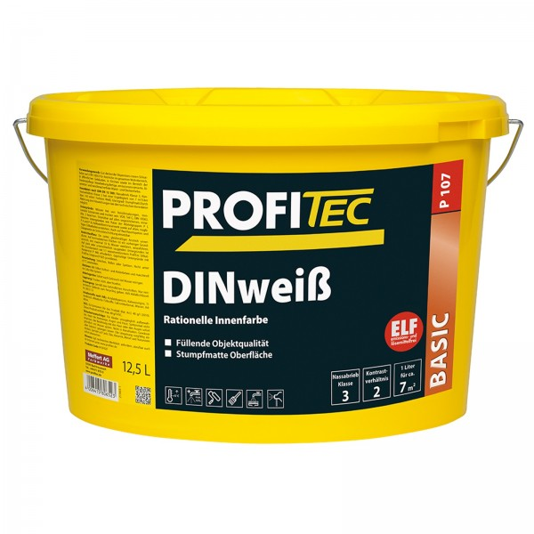 PROFITEC WANDFARBE DINWEISS - 12.5 LTR
