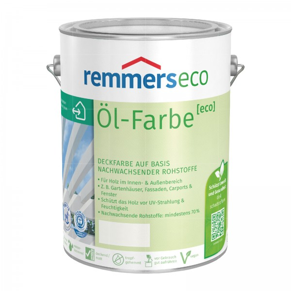 REMMERS ECO OEL-FARBE - 5 LTR (WEISS RAL 9016)
