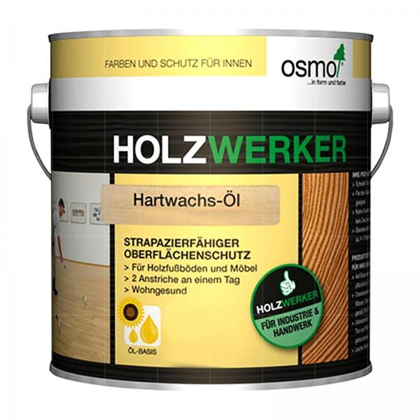 OSMO HOLZWERKER HARTWACHS-OEL - 2.5 LTR (H-3288 FARBLOS HALBMATT ANTI-RUTSCH)