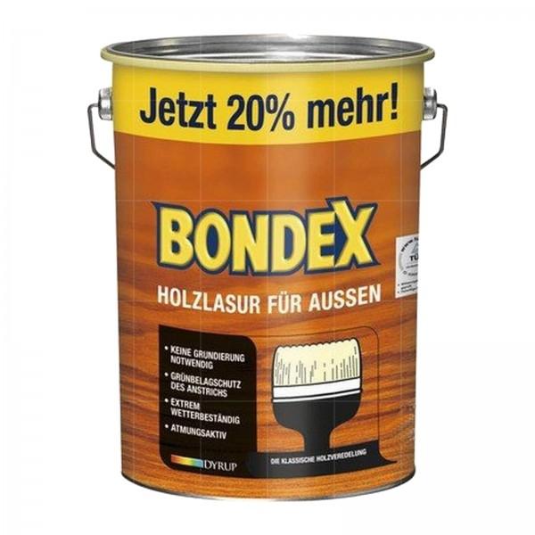 BONDEX HOLZLASUR FUER AUSSEN - 4.8 LTR