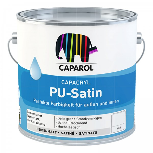 CAPAROL CAPACRYL PU-SATIN - 2.5 LTR (WEISS)