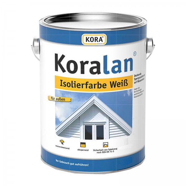 KORA KORALAN ISOLIERFARBE WEISS - 0.75 LTR (WEISS)