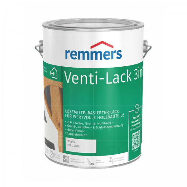 Remmers VENTI-LACK 3IN1 - 2.5 LTR (WEISS RAL 9016)