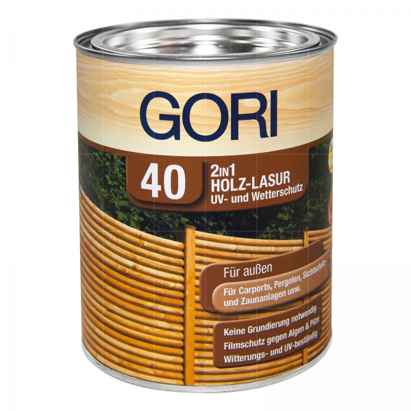 GORI 40 2IN1 HOLZ LASUR - 0.75 LTR
