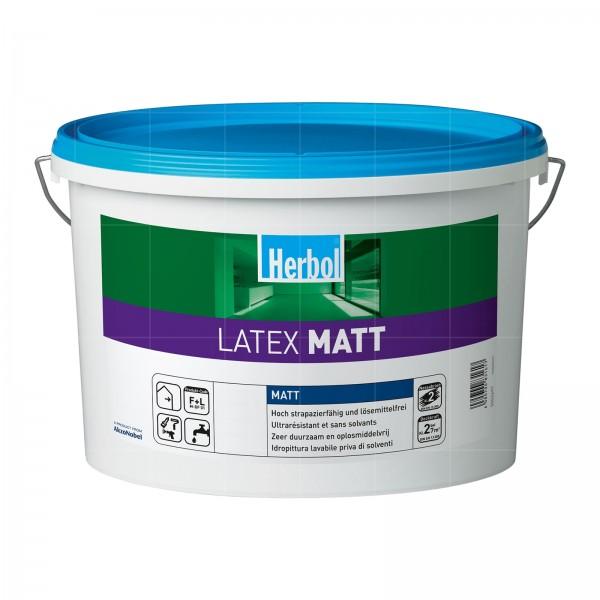 HERBOL LATEX MATT - 12.5 LTR (WEISS)