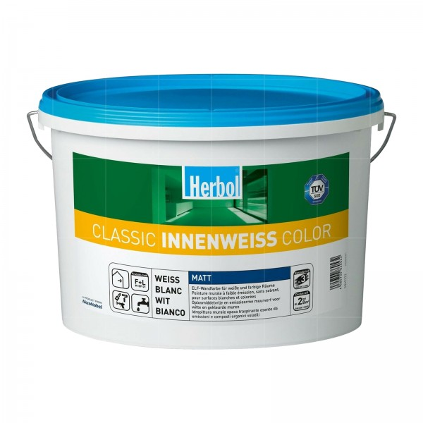 HERBOL CLASSIC INNENWEISS COLOR - 12.5 LTR (WEISS)