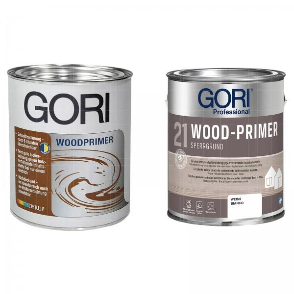 GORI 21 WOOD-PRIMER - 2.5 LTR (WEISS)