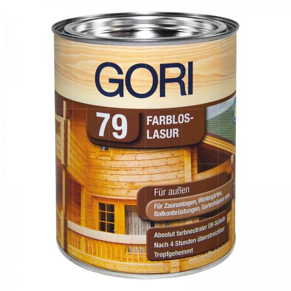 GORI 79 FARBLOS LASUR UV - 0.75 LTR (FARBLOS)
