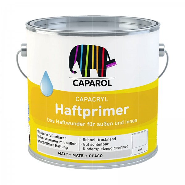 CAPAROL CAPACRYL HAFTPRIMER - 2.5 LTR (WEISS)